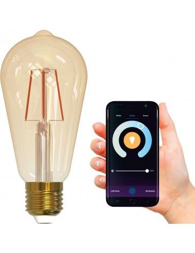 Bec smart LED filament 5.5W(40W), lumina calda, dimabil, Polux