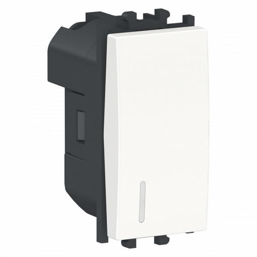 Intrerupator cap scara cu led, alb, 1 modul, Schneider Easy Styl
