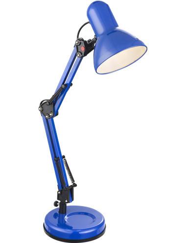 Lampa de birou albastra, 1 bec, dulie E27, Globo 24883