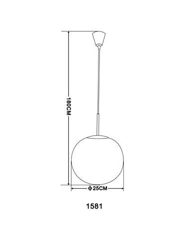 Pendul alb mat, 1 bec, dulie E27, Globo 1581