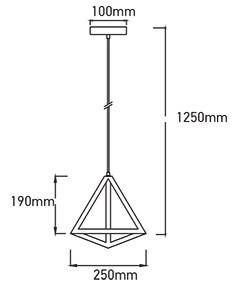 Pendul Geometric, culoarea șampaniei, triunghi, V-TAC
