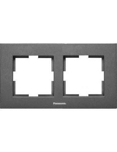 Rama 2 module, orizontala, IP20, Grafit, Panasonic Arkedia Slim