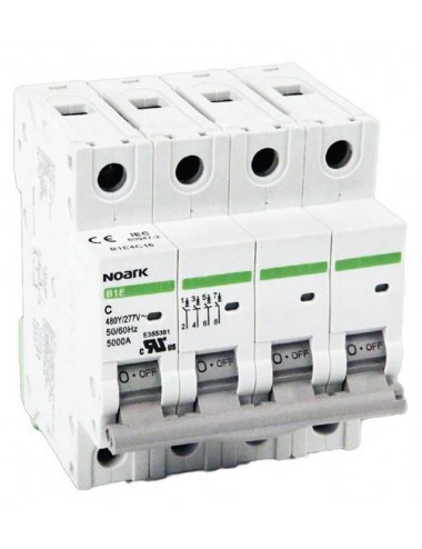 Siguranta automata 3P+N, 50A, curba de declansare C, capacitate de rupere 4,5kA, Noark