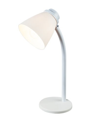 Veioza plastic alb, 1 bec, dulie E14, Globo 24806