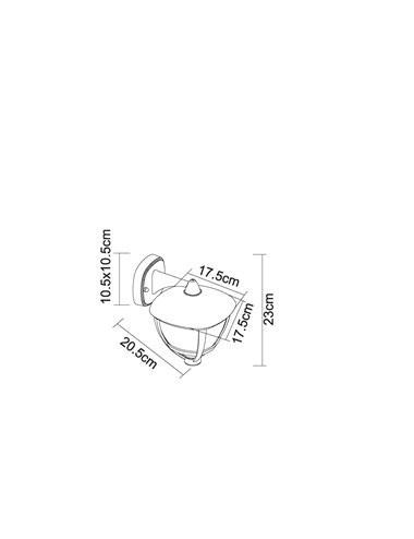 Aplica de exterior alba, 1 bec, dulie E27, Globo 31990