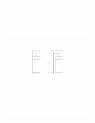 Aplica de exterior antracit, 1 bec, dulie E27, Globo 31804