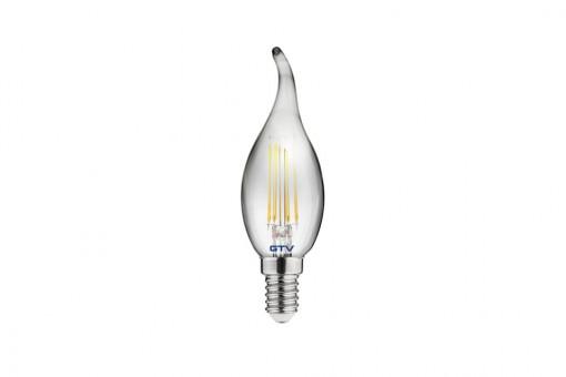 Bec LED Vintage fumuriu 4W(25W), lumina calda, forma flacara, E14, A+, GTV