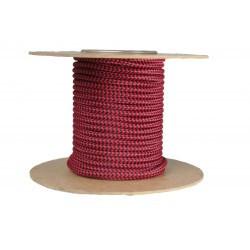 Cablu textil 2x0.75, rosu-negru