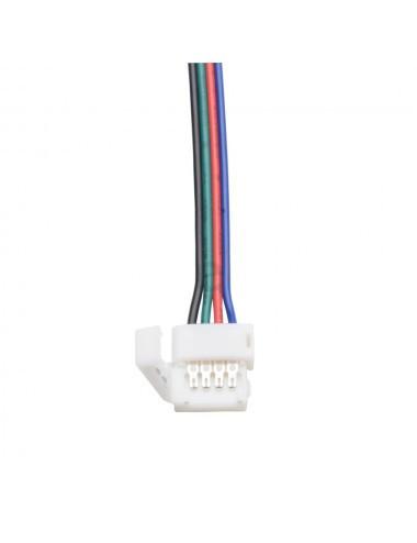 Conector alimentare cu clema banda led RGB cu 15 cm cablu