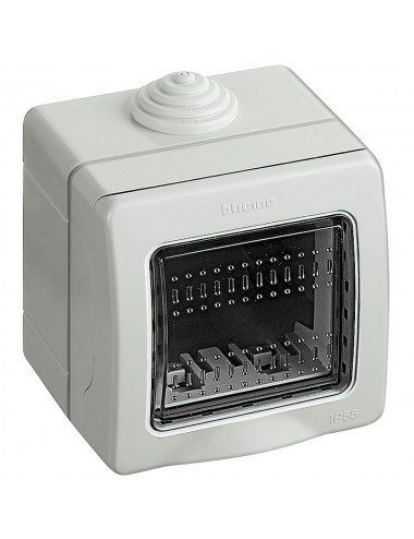 Doza montaj aplicat, 2 module, IP55, gri, Bticino Matix