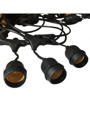Ghirlanda luminoasa, 15 becuri, dulie E27, fara becuri, 15M, protectie IP54