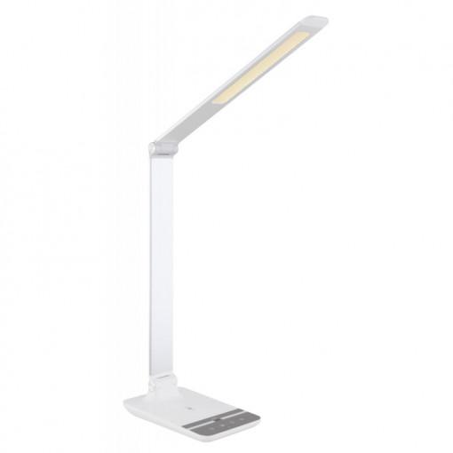 Lampa de birou LED 9W, incarcare wireless, dimabila, temperatura de culoare ajustabila, argintiu, 58425W Globo