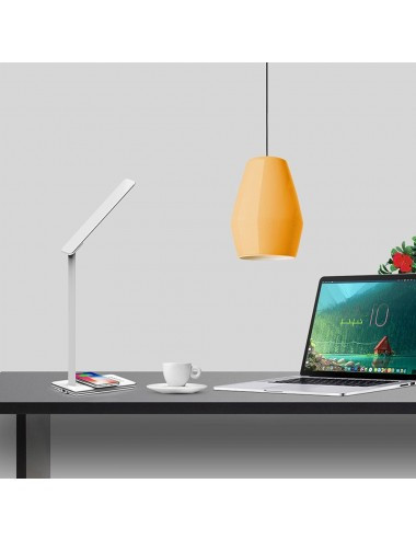 Lampa LED de birou alba, control touch, Port USB, 5W, 800lux , Incarcare Telefon Wireless, Dimabila 4 Trepte, V-TAC