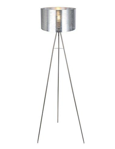 Lampadar argintie, 1 bec, dulie E27, Globo 15343S