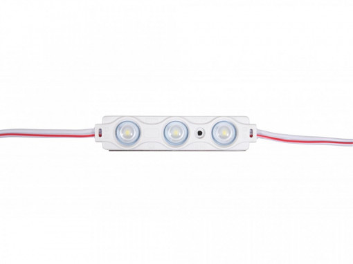 Modul 3 leduri 1.5W, 12 V, IP65, lumina snow white 10000 K, 70x15mm, Optonica
