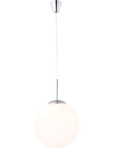 Pendul mat alb, 1 bec, dulie E27, Globo 1583
