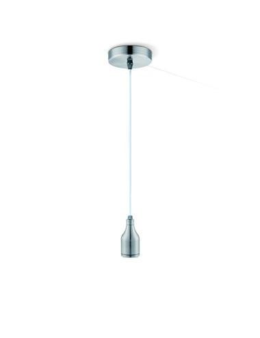Pendul metal argintiu mat, 1 bec, dulie E27, Globo A33