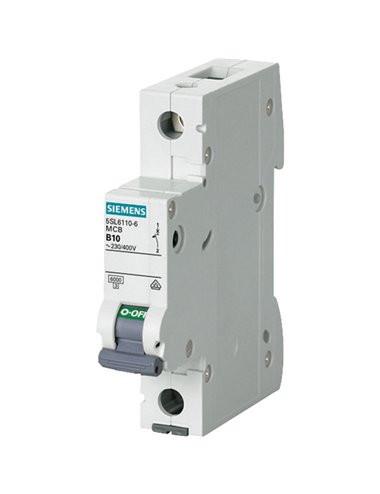Siguranta automata 1P, 10A, curba de declansare C, capacitate de rupere 6kA, Siemens