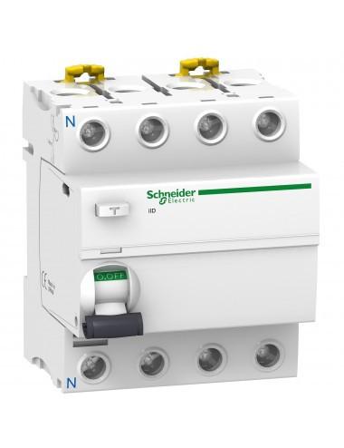 Siguranta automata cu protectie diferentiala 25A 3P+N, tip AC, 30mA, 10kA, Schneider