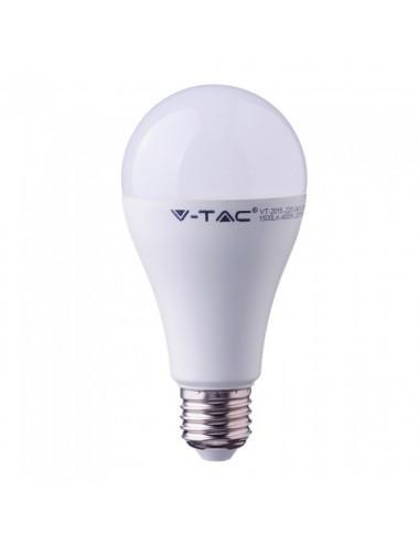 Bec led E27, 15W(90W), lumina calda, 2700K, 1350 lm, A+, V-TAC