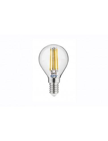 Bec led sferic E14, 4W(35W), 400lm, lumina calda, A+, GTV