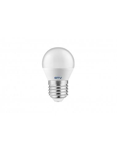 Bec led, sferic, E27, 6W(40W), lumina alba naturala, 470 lm, A , GTV