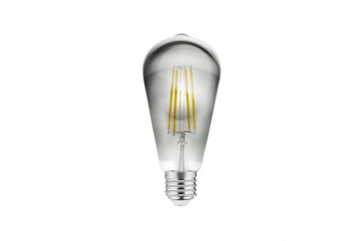 Bec Vintage led fumuriu 6W(33W), lumina calda, forma avocado ST64, A+, GTV