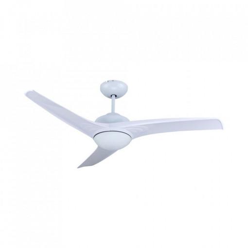 Candelabru cu ventilator 35W, led 15W, telecomanda pentru temperatura de culoare a luminii, alb, V-TAC