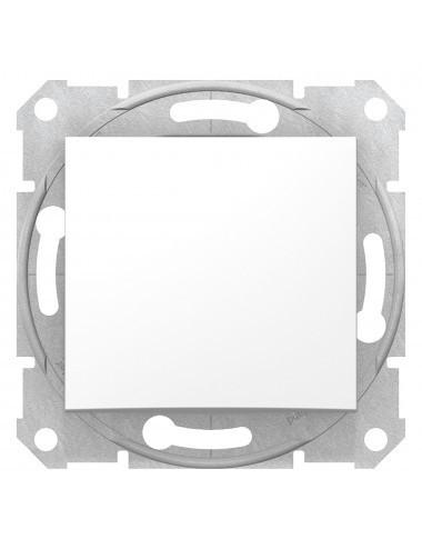 Intrerupator simplu, 10A, IP20, Alb, Schneider Sedna