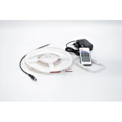 Kit Banda LED IP20 3528 60 leduri/metru 5 metri lumina calda + alimentare + controller