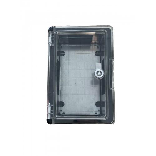 Panou 30x40x17 ABS IP65 usa transparenta Negru