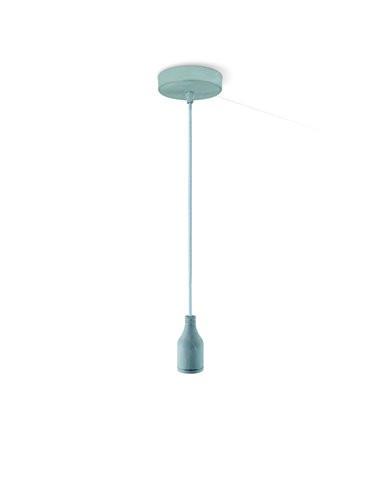 Pendul metal gri, 1 bec, dulie E27, Globo A35
