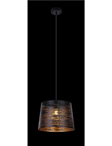 Pendul negru, 1 bec, dulie E27, Globo 15314S