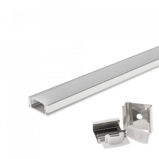 Profil aluminiu banda led, aplicat, 1 metru, Optonica