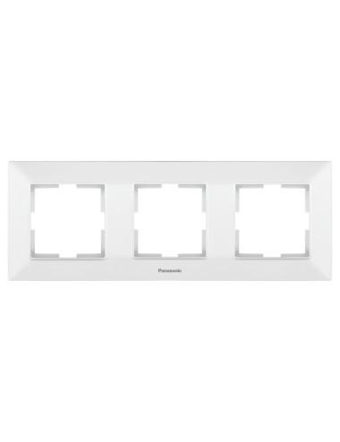 Rama 3 module orizontala IP20, Alb, Panasonic Arkedia Slim