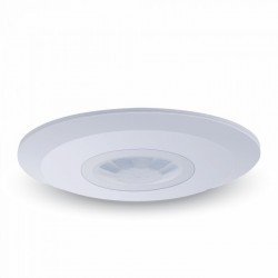 Senzor de miscare slim,montaj aplicat, unghi de detectie 360 de grande, V-TAC, alb