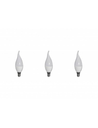 Set 3 becuri led E14, flacara, 6W (40 W), 480 lm, lumina calda, A+, Optonica