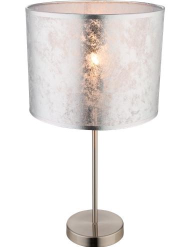 Veioza argintie, 1 bec, dulie E27, Globo 15188T1