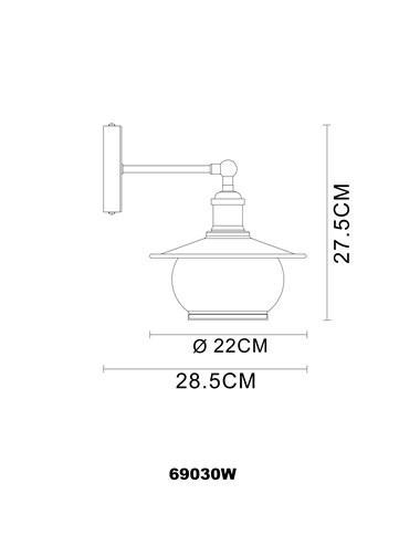 Aplica bronz, 1 bec, dulie E27, Globo 69030W