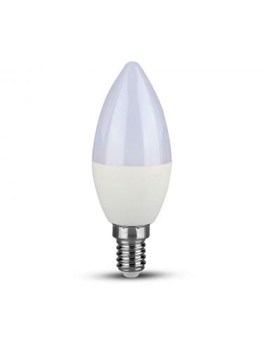Bec led lumanare, chip Samsung, E14, 5.5W(40W), lumina alba naturala, 470 lm, A+, V-TAC
