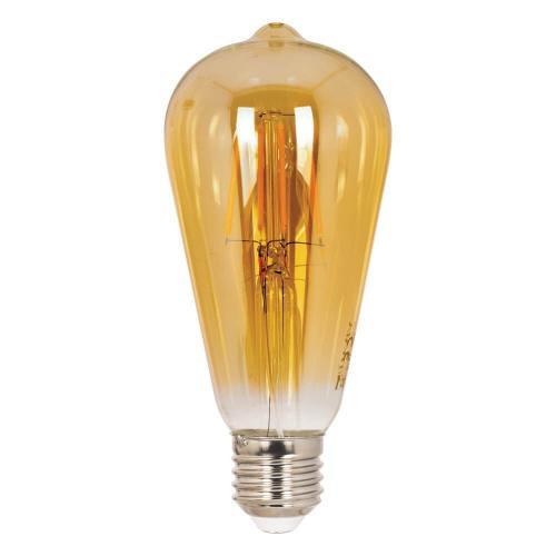 Bec LED Vintage Ledisone Retro ST64, 8W(60W) auriu, lumina calda(2500K), forma avocado, 800Lm, E27, Vito