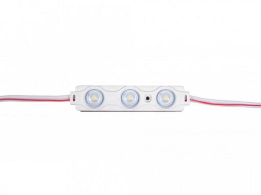 Modul 3 leduri 1.5W, 12 V, IP65, lumina calda 3000 K, 70x15mm, Optonica
