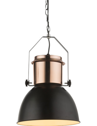 Pendul negru, 1 bec, dulie E27, Globo 15282