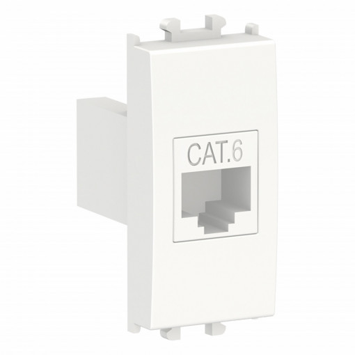 Priza date RJ45 cat 6, UTP, 1 modul, alba, Schneider Easy Styl