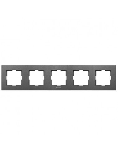 Rama 5 module, orizontala, IP20, Grafit, Panasonic Arkedia Slim