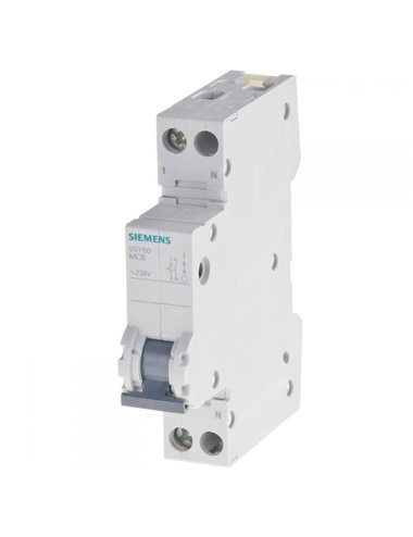 Siguranta automata P+N, 16A, curba de declansare C, capacitate de rupere 6kA, Siemens