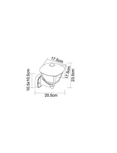 Aplica de exterior mat alb, 1 bec, dulie E27, Globo 31991