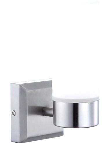 Aplica nichel cu sticla alba mata, 1 bec, dulie E14, Globo 7815