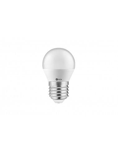 Bec led sferic E27, 8W(54 W), 700 lm, lumina calda, A+, GTV