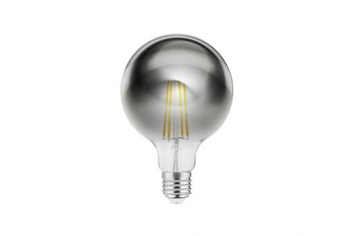 Bec Vintage led fumuriu 8W(40W), lumina calda, forma glob G125, A+, GTV